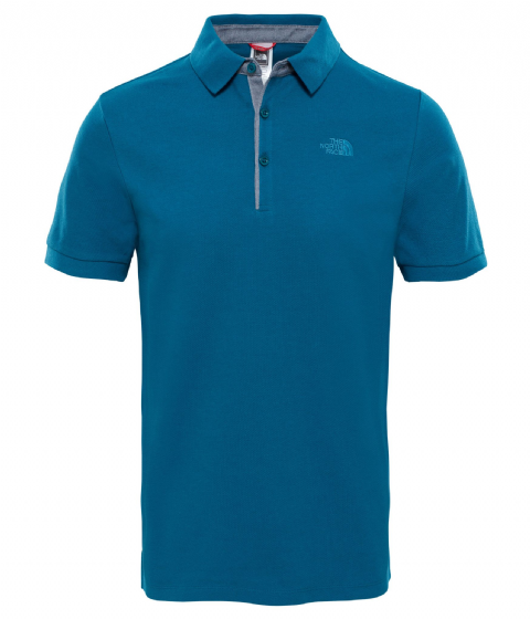 The North Face Mens Premium Polo Piquet - Cotton - Blue Coral